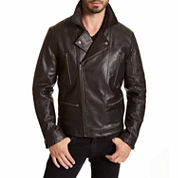 EXCELLED MOTO ASSYMETRICAL ENTRY JKT