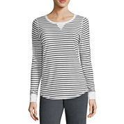 Made for Life™ Long-Sleeve Striped Tee, Quilted Vest or Basic Fleece Pants