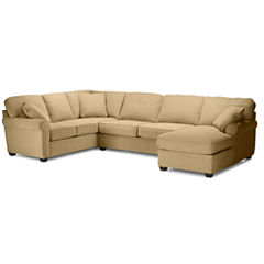 Fabric Possibilities Roll-Arm 3-pc. Left-Arm Corner Sofa Sectional