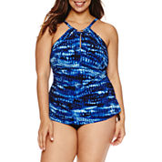 Trimshaper®  Free Spirit Hi-Neck Aria Tankini or Side Tie Hipster- Plus