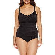 Trimshaper Solid One Piece Swimsuit-Plus