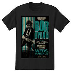 Short Sleeve Bob Dylan Graphic T-Shirt