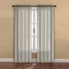 Ella 2-Pack Rod-Pocket Sheer Curtain Panel