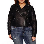 Belle + Sky Motorcycle Jacket-Plus