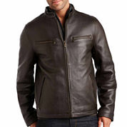 Dockers Leather Bomber Jacket
