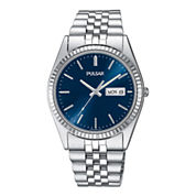 Pulsar® Mens Stainless Steel Watch PXF303