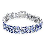 LIMITED QUANTITIES  Genuine Tanzanite Large 3-Row Bracelet