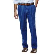 Haggar® Work to Weekend® Classic-Fit Pleated Denim Pants