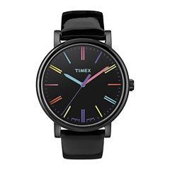 Timex® Originals Modern Womens Black Leather Strap Watch T2N790AB