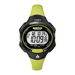 Timex® Womens Green Resin Strap 10-Lap Watch T5K5279J