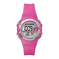 Marathon by Timex® Womens Pink Resin Strap Digital Watch T5K771M6
