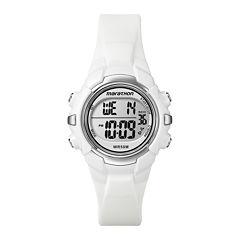 Marathon by Timex® Womens White Resin Strap Digital Watch T5K806M6