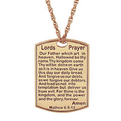 Personalized Lord's Prayer Pendant Necklace