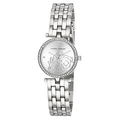 Laura Ashley Womens Silver Tone Bracelet Watch-La31021ss