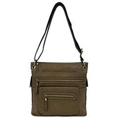 St. John's Bay Double Zip Crossbody Bag
