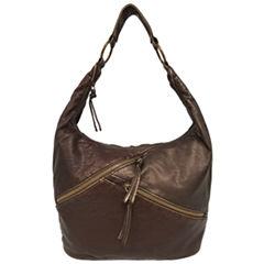 St. John's Bay Diagonal Zip Hobo Bag