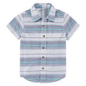 Arizona Boys Short Sleeve Button-Front Shirt