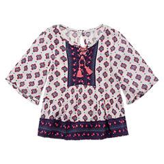 Arizona 3/4 Sleeve Blouse - Toddler Girls