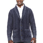 The Foundry Big & Tall Supply Co. V Neck Long Sleeve Cardigan