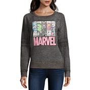 Marvel Burnout Sweatshirt- Juniors