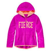 Xersion™ Graphic Zip-Front Fleece Hoodie - Girls 7-16 and Plus
