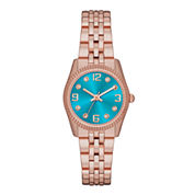 Womens Crystal-Accent Mini Bracelet Watch