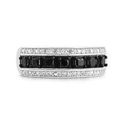 LIMITED QUANTITIES 1/7 CT. T.W. White and Color-Enhanced Black Diamond Sterling Silver Ring