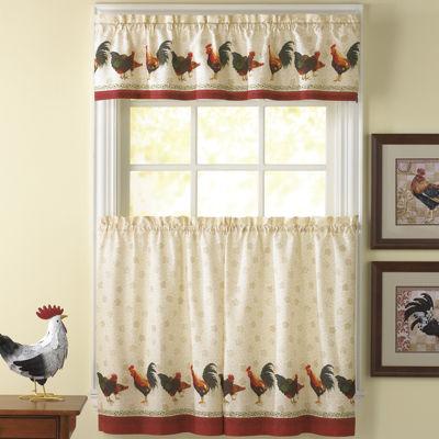 Delightful Rod Pocket Kitchen Curtain Set