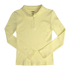 French Toast® Long-Sleeve Fitted Polo Shirt - Girls 7-20 and Plus