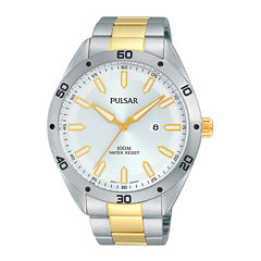 Pulsar® Mens Two-Tone Stainless Steel Watch PH9091X