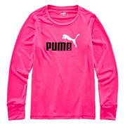 Puma Girls Long Sleeve T-Shirt-Big Kid