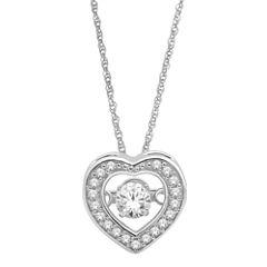 Love in Motion™  ¼ CT. T.W. Diamond Heart Pendant Necklace