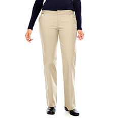 Dickies® Womens Relaxed-Fit Straight-Leg Stretch Twill Pants-Long