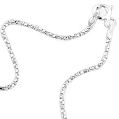 """Made in Italy 24"""" Twisted Venetian Box Chain Sterling Silver"""