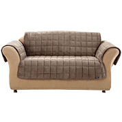 SURE FIT® Quilted Velvet Deluxe Pet Furniture Cover Collection