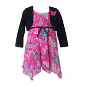 Lilt Girls Short Sleeve Jacket Dress