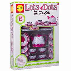 Alex Toys Lots Of Dots Tin Tea Set 15-pc. Play Food