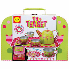 Alex Toys Tin Tea Set 16-pc. Play Food