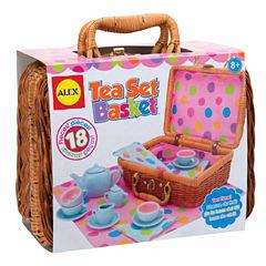 Alex Toys Tea Set Basket 19-pc. Play Food