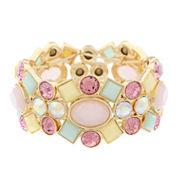Monet Jewelry Womens Multi Color Stretch Bracelet