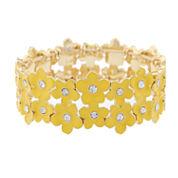 Liz Claiborne Womens Stretch Bracelet Yellow Goldtone