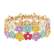 Liz Claiborne Womens Stretch Bracelet Multi And Goldtone