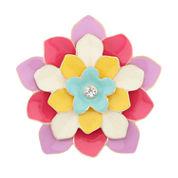 Liz Claiborne Flower Pin Multi And Goldtone