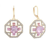 Monet Pink And Goldtone Drama Earring