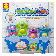 Alex Toys Rub A Dub Monsters In My Tub 5-pc. Toy Playset