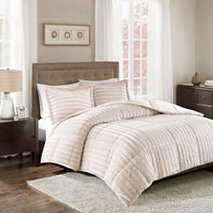Madison Park Duke Faux Fur Mini Comforter Set