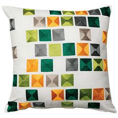 Indra Cotton Decorative Square Throw Pillow