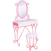 Charmed 2-Piece Youth Vanity Bathroom Cabinet Set