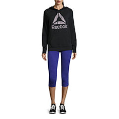 Reebok® Logo Hoodie or Reversible To Black Capris