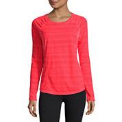 Xersion Long Sleeve Scoop Neck T-Shirt-Talls